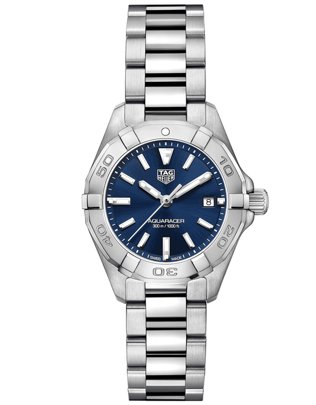 Tag Heuer Aquaracer Lady 300M 27Mm Blue Dial Women's Watch