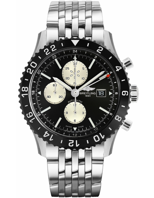 Breitling Chronoliner Ceramic Pilots Chronograph Gmt Navitimer Band Men's Watch
