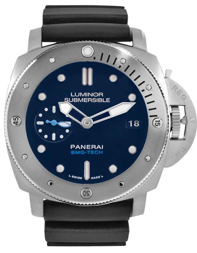 Panerai Submersible 47mm BMG-TECH Blue Dial Titanium Men's Watch