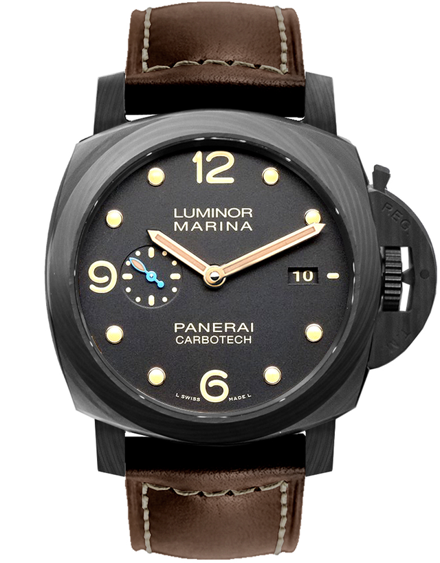 PANERAI LUMINOR 1950 3 DAYS CARBOTECH 44MM AUTOMATIC P9010 MOVEMENT MEN'S WATCH