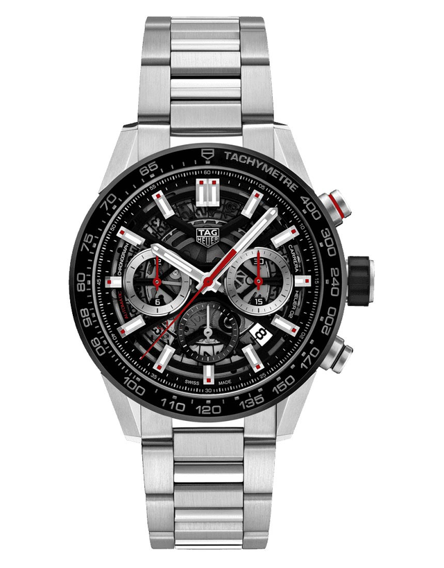 Tag Heuer Carrera Calibre Heuer 02 Skeleton Dial Stainless Steel Men's Watch