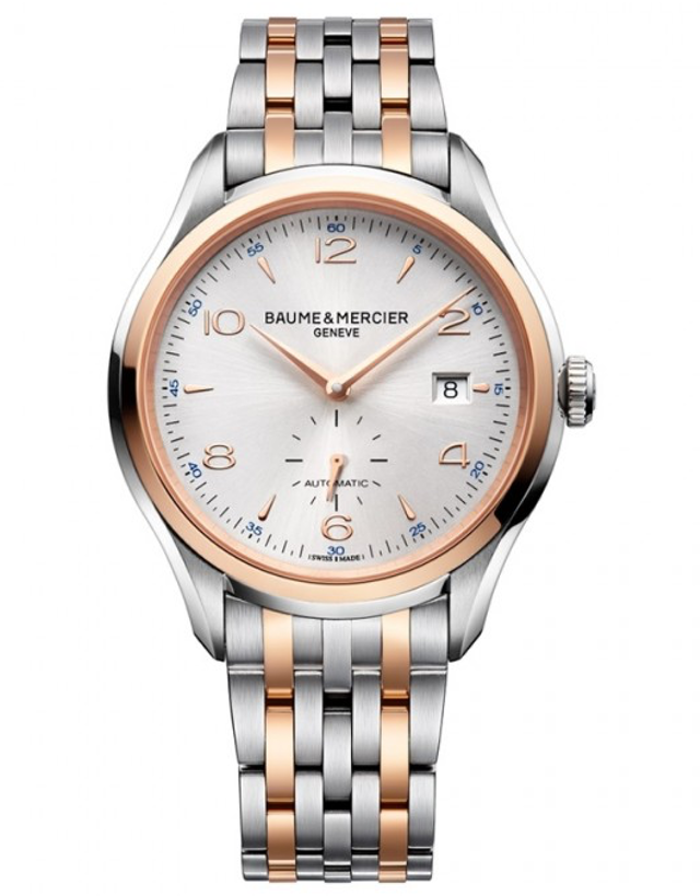 Baume & Mercier Clifton Automatic 41mm Rose Gold & Stainless Steel Small Seconds Men's Watch
