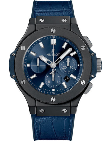 Hublot Big Bang 44mm Blue Dial Blue Leather Men's Watch