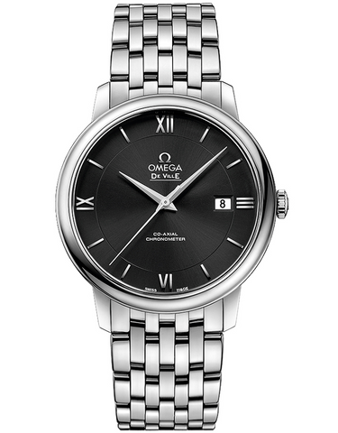 Omega De Ville Prestige Automatic Chronometer Black Dial Men's Watch