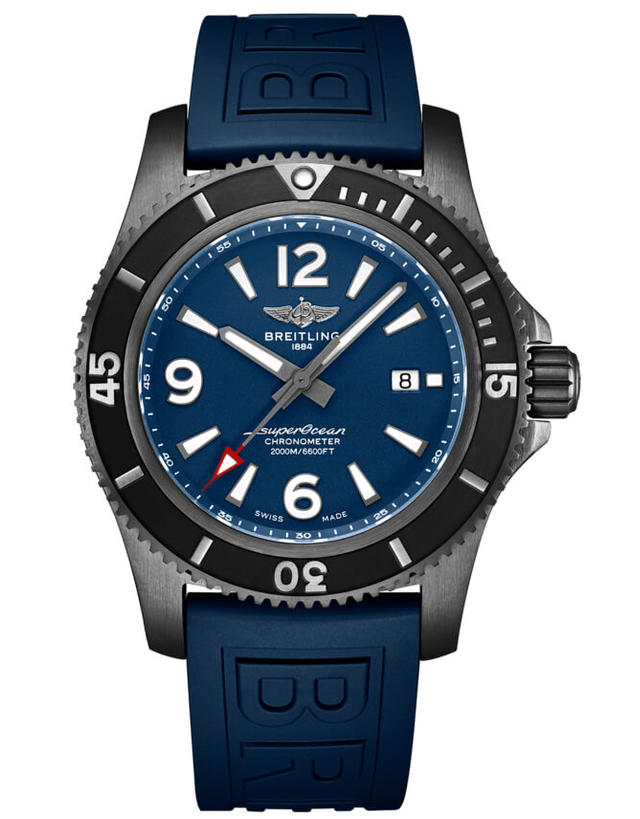 Breitling Superocean 46 Black Steel Watch