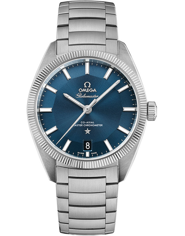 OMEGA CONSTELLATION GLOBEMASTER CO-AXIAL MASTER CHRONOMETER 39MM BLUE DIAL STEEL MEN'S WATCH