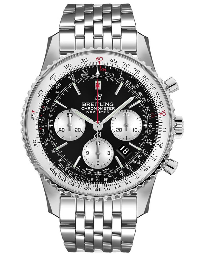 Breitling Navitimer 1 B01 Chronograph 46 Black Dial Men's Watch