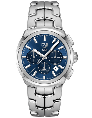 Tag Heuer Link Automatic Chronograph Blue Dial Stainless Steel Men's Watch