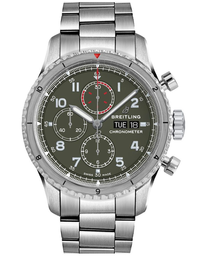 Breitling Aviator 8 Chronograph 43 Curtiss Warhawk Mens Watch
