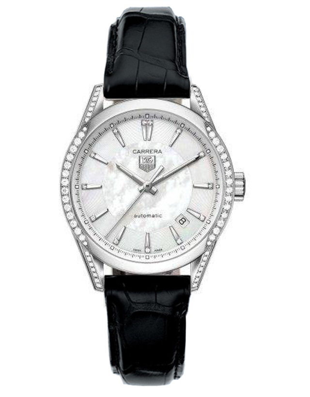 TAG HEUER CARRERA AUTOMATIC MOTHER OF PEARL DIAMOND DIAL WOMEN'S WATCH