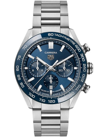 Tag Heuer Carrera Chronograph Automatic Blue Dial Men's Watch