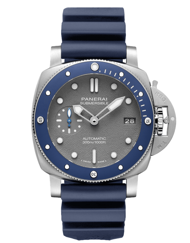 Panerai Submersible Automatic Grey Dial Men's Watch
