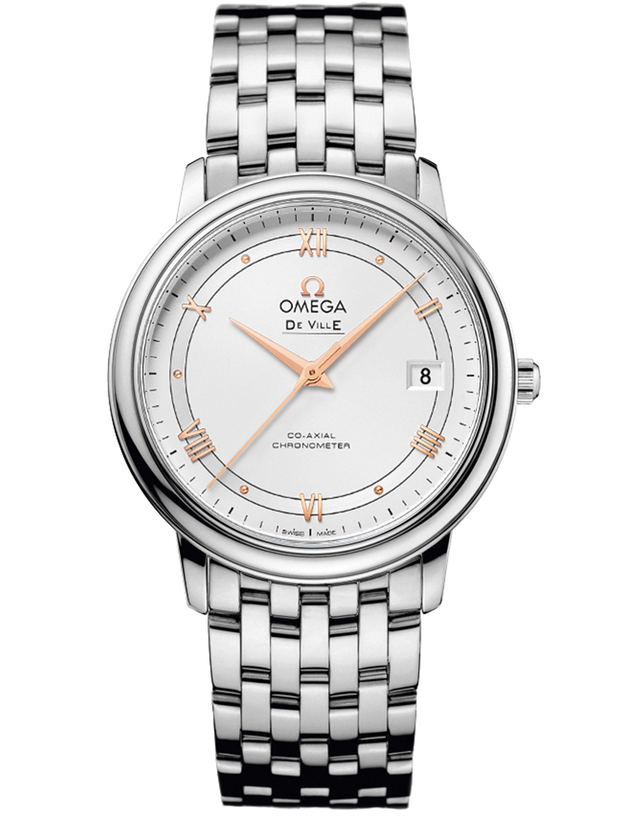 OMEGA DE VILLE PRESTIGE CO-AXIAL 36.8MM SILVER ROMAN DIAL MEN'S WATCH