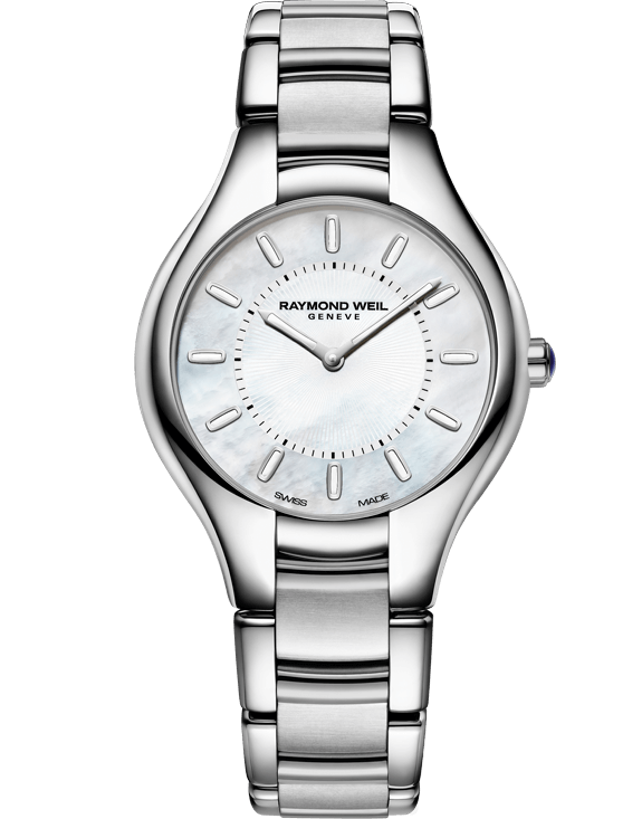 Raymond Weil Noemia White Mother of Pearl Dial Ladies Watch