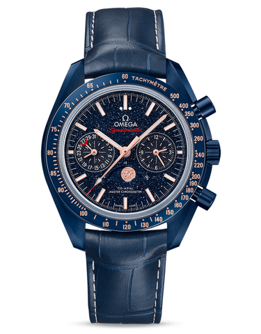 Omega Speedmaster Moonphase Co-Axial Master Chronograph Blue Side Of The Moon Men's Watch