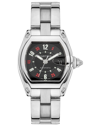Cartier Roadster Black Dial Stainless Steel Men's Watch