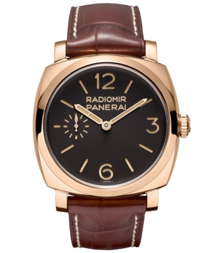 Panerai 1940 Oro Rosso Manual Wind Brown Dial 18K Rose Gold Men's Watch