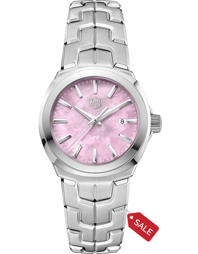 Tag Heuer Link Quartz 32Mm Pink Mother Of Pearl Women's Watch