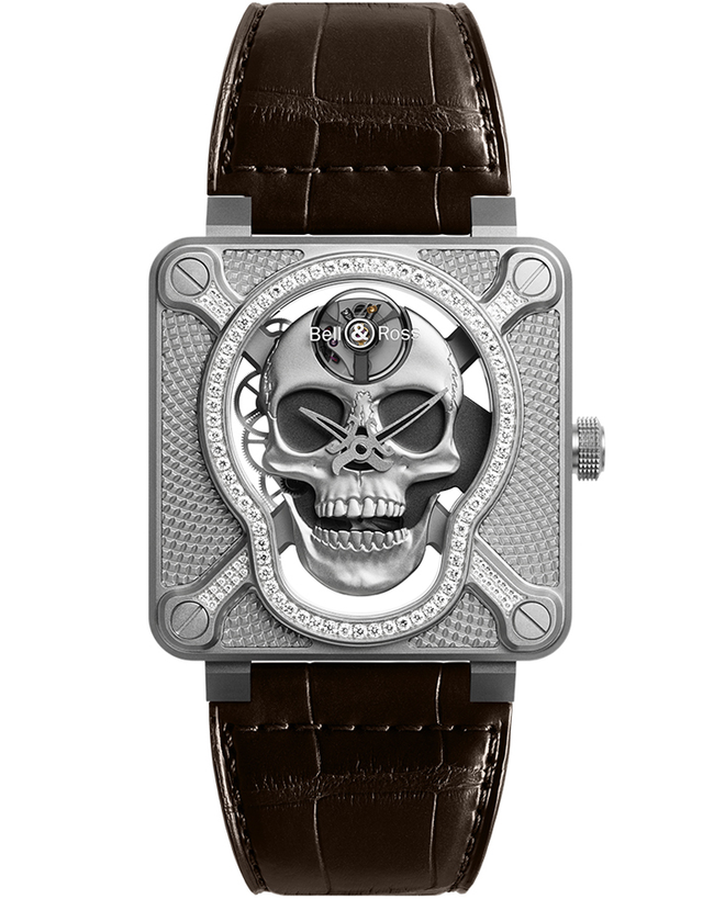 Bell & Ross BR01 Laughing Skull Mens Watch