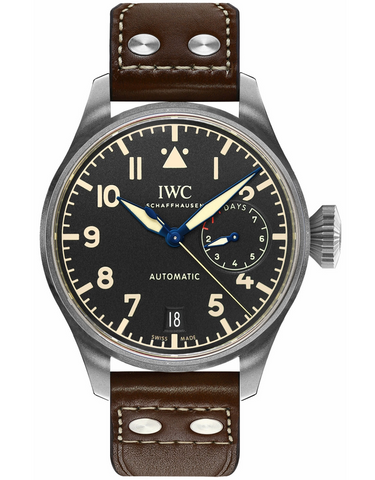 IWC Big Pilot's Heritage Titanium Black Dial Brown Leather Men's Watch