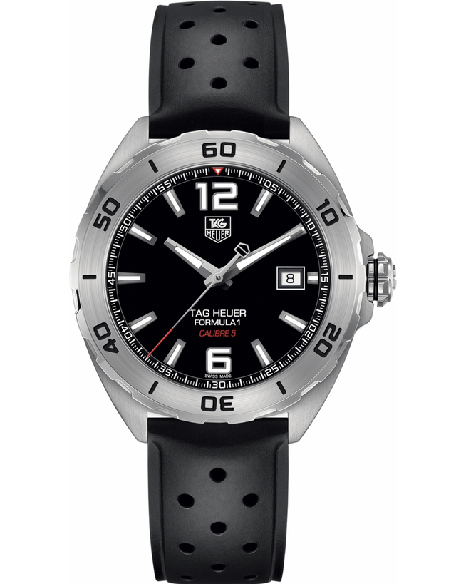 Tag Heuer Formula 1 Automatic Black Dial Rubber Men's Watch