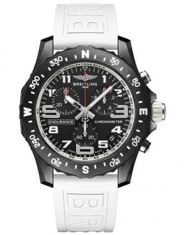 Breitling Professional Endurance Pro White Rubber Strap Mens Watch