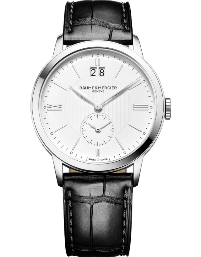 Baume & Mercier Classima Quartz GMT Time Zone Leather Strap Men's Watch