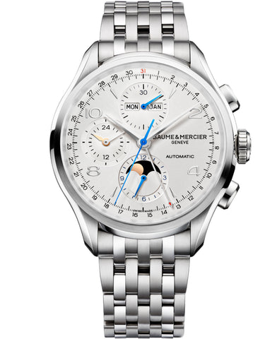 Baume & Mercier Clifton Automatic 43mm Silver Dial Stainless Steel Men's Watch