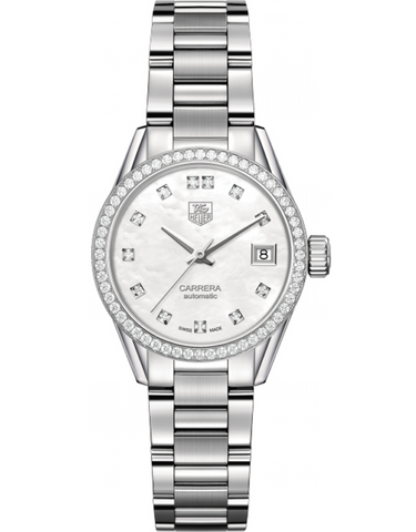 Tag Heuer Carrera Automatic Mother Of Pearl Diamond Women's Watch