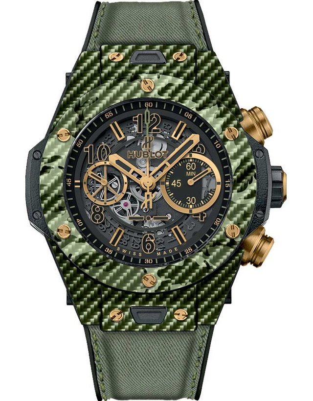 HUBLOT BIG BANG UNICO ITALIA INDEPENDENT GREEN CAMO LIMITED EDITION MEN'S WATCH