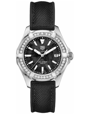 TAG HEUER AQUARACER BLACK MOTHER OF PEARL DIAMOND DIAL WOMEN'S WATCH