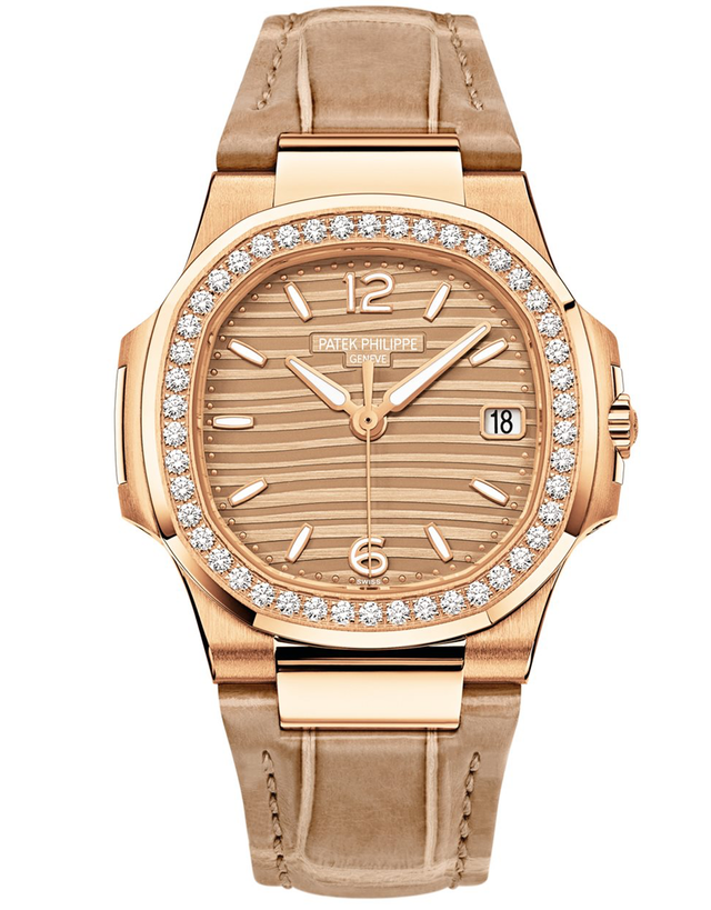 Patek Philippe Nautilus 18K Rose Gold Diamond Ladies Watch