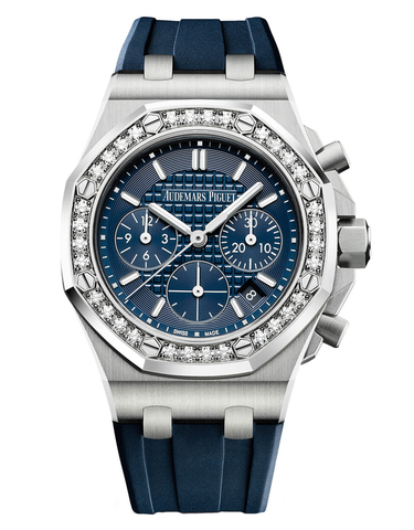 AUDEMARS PIGUET ROYAL OAK OFFSHORE STAINLESS STEEL WITH DIAMONDS BLUE AUTOMATIC
