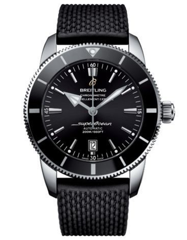 Breitling Superocean Heritage II 46 Black Dial Black Rubber Men's Watch