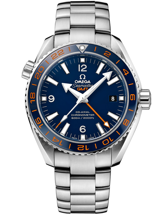 OMEGA SEAMASTER PLANET OCEAN 600M GMT GOOD PLANET FOUNDATION EDITION BLUE DIAL MEN'S WATCH