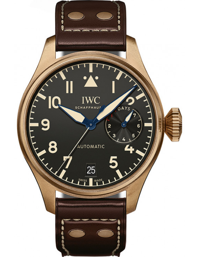 IWC Big Pilot's Heritage Black Dial Brown Leather Men's Watch