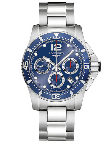 Longines Hydroconquest Automatic Chronograph 41mm Blue Dial Men's Watch