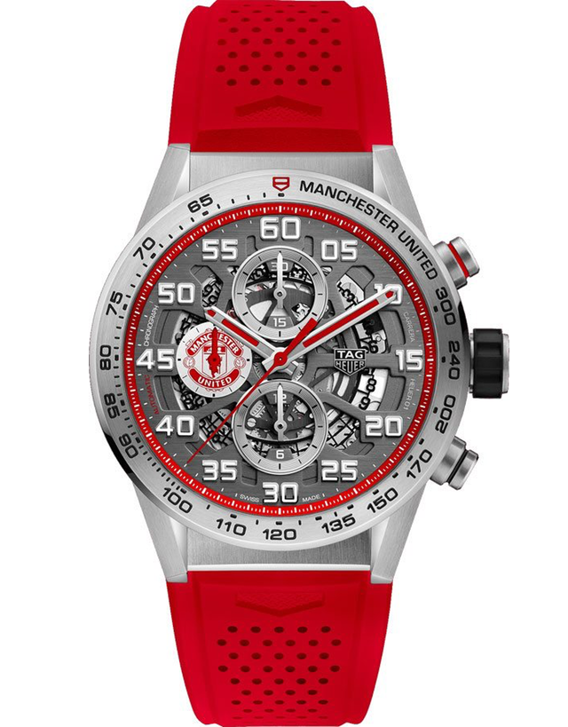 Tag Heuer Carrera Calibre Heuer 01 Automatic Chronograph Skeleton Dial Rubber Strap Men's Watch