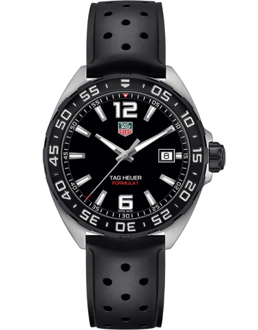Tag Heuer Formula 1 Quartz Black Dial Rubber Strap Men's Watch