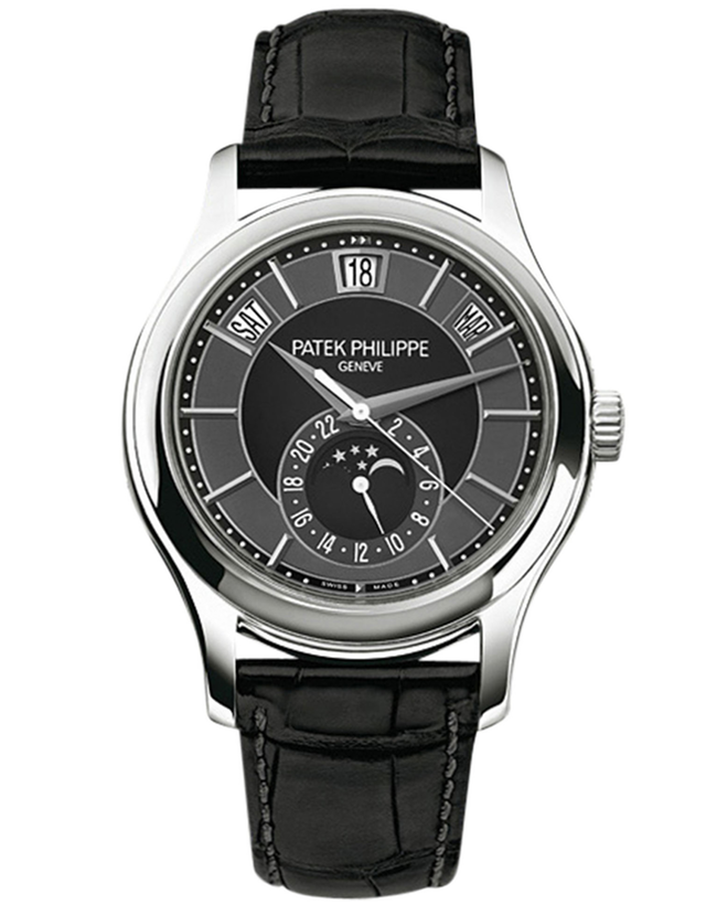 Patek Philippe Complications 18k White Gold Gray Automatic Men's Watch
