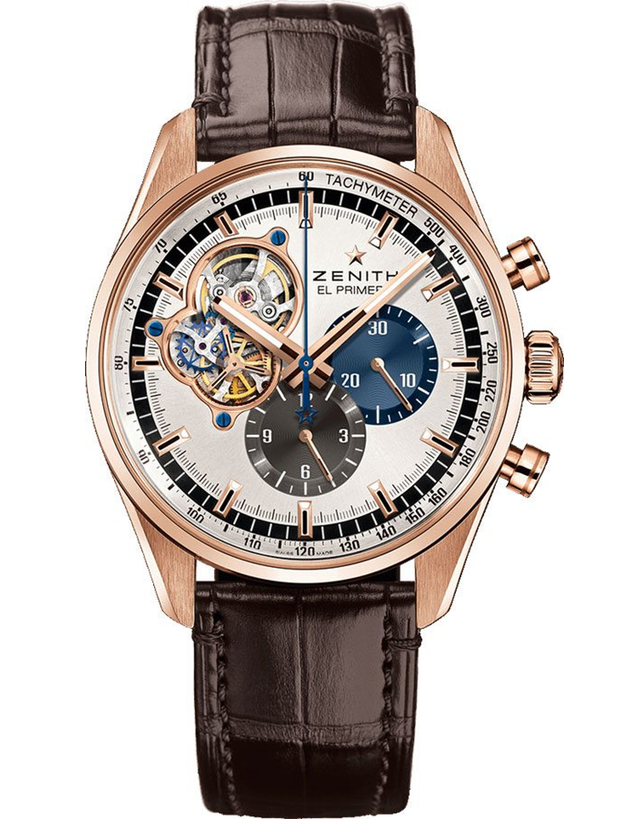 Zenith El Primero Chronomaster 1969 Silver Dial Rose Gold Men's Watch