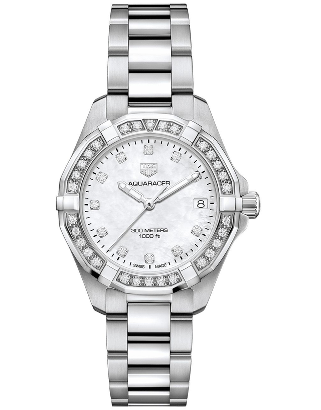 Tag Heuer Aquaracer Lady 300M 32mm Mother Of Pearl Diamond Women's Watch