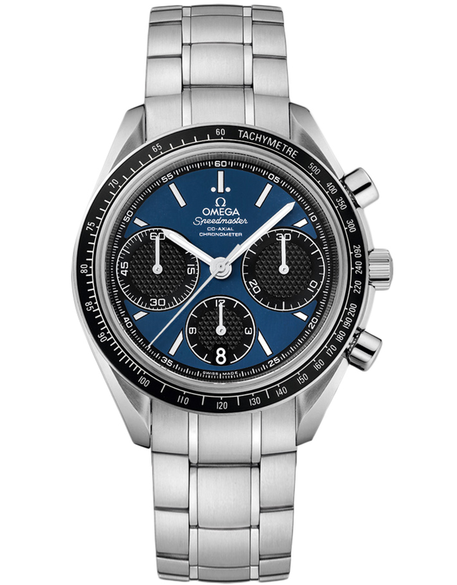 OMEGA SPEEDMASTER RACING CHRONOMETER BLUE DIAL MEN'S WATCH
