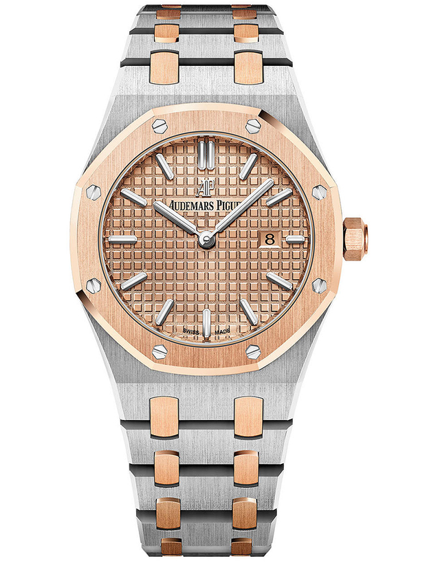 Audemars Piguet Royal Oak 18K Rose Gold And Steel Gold Quartz