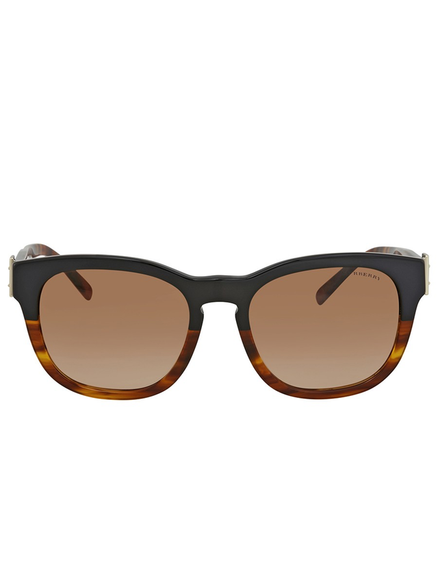 BURBERRY BROWN GRADIENT SQUARE SUNGLASSES