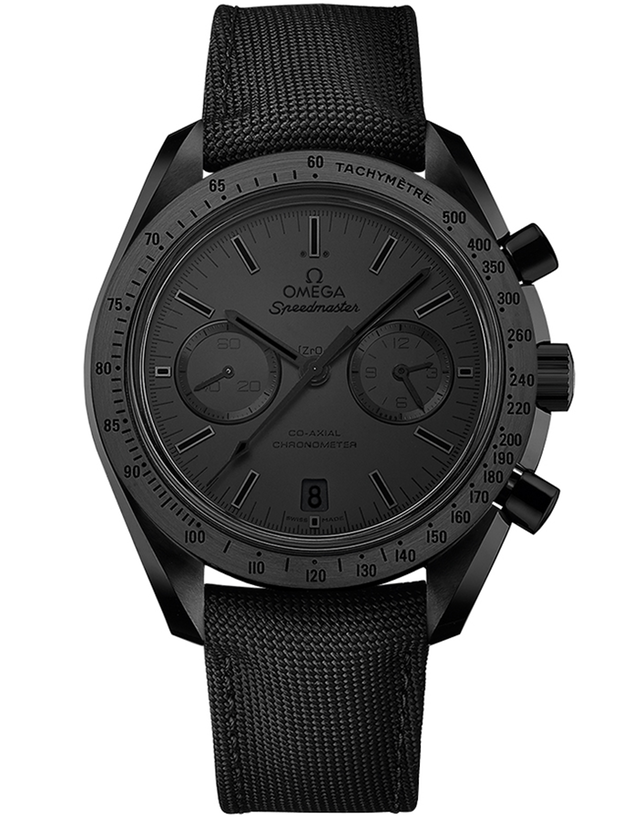"OMEGA SPEEDMASTER MOONWATCH CO-AXIAL CHRONOGRAPH DARK SIDE OF THE MOON ""BLACK BLACK"" MEN'S WATCH"