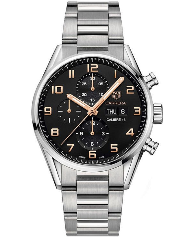 1dca296763483 Tag Heuer Carrera Chronograph Day-Date Automatic Black Dial Steel Men  –  LuxuryTimeSA
