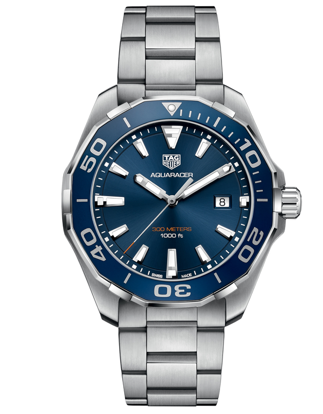 Tag Heuer Aquaracer Quartz Blue Dial Steel 43mm Men's Watch
