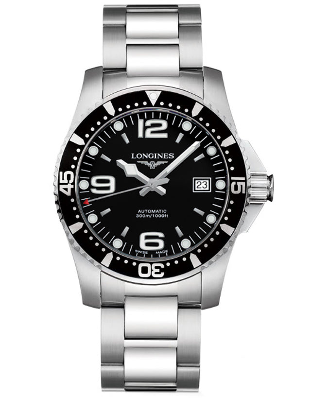 LONGINES HYDROCONQUEST AUTOMATIC BLACK DIAL MEN'S WATCH