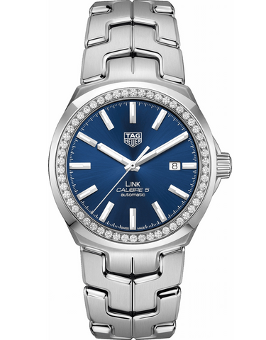 Tag Heuer Link Automatic Blue Diamond Dial Ladies Watch
